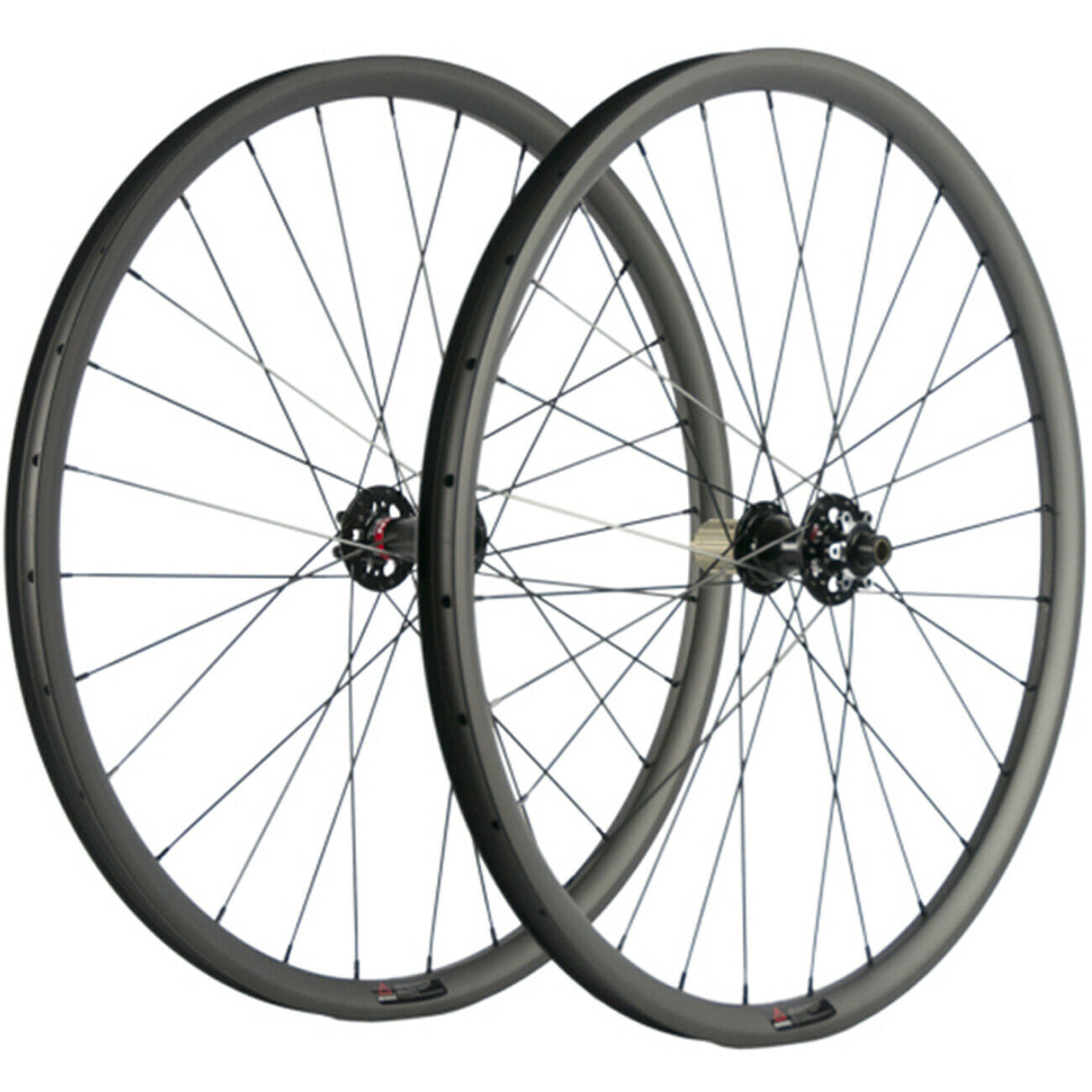 27.5ER Carbon Cyclocross Wheelset Tubeless MTB Disc Brake Wheels Thru Axle 15mm