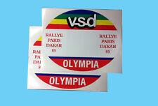 adesivi tabelle vintage BMW Paris Dakar WSD  - adesivi/adhesives/stickers/decal