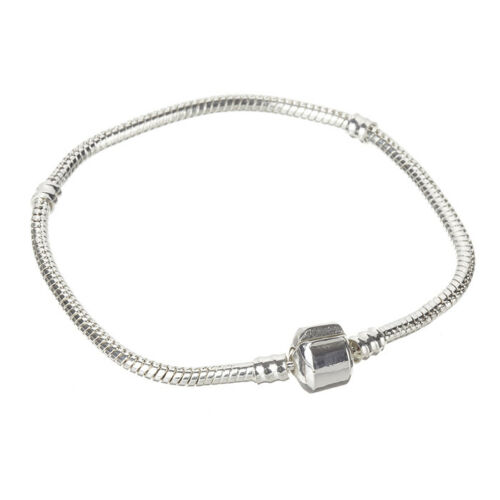 2.5mm Silver Snake Chain Bracelet With Snap Clasp 21cm Pack of 1 B60//5