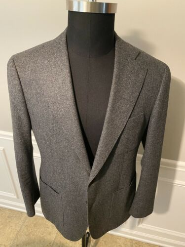 Suit Supply Havana Grey Notch Lapel 44R VBC Fabric
