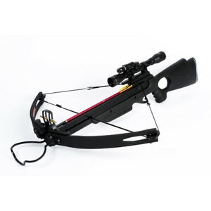 150-lb-lbs-Black-Compound-Hunting-Crossbow-Archery-Bow-2-Arrows-180-175-80-50