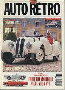 AUTO-RETRO-n-132-AOUT-1991FACEL-VEGA-FV3-THUNDERBIRD-BMW-328-CHEVROLET-55-57