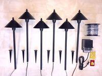Led Scorp 6 Path Light Low Voltage Outdoor Landscape Lighting Kit Free Ship