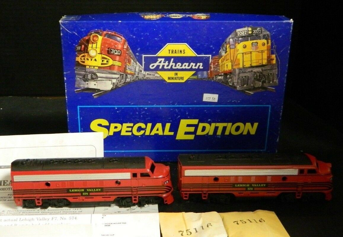 Athearn Special Edition  2204 Lehigh Valley F7A  576 & F7B  578 In Orig Box Exc