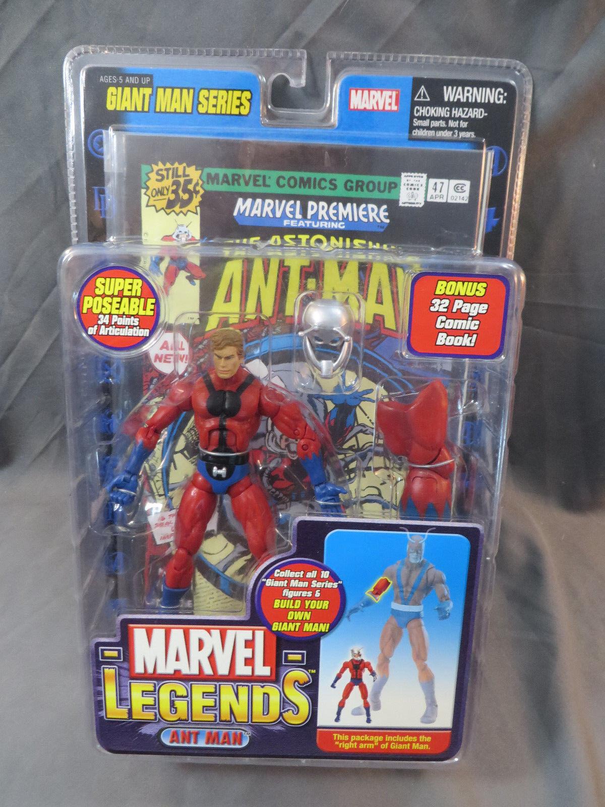 ToyBiz Marvel Legends Ant Man Giant Man Series MOC 6  Avengers Action Figure