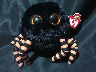 Black Version 6 Inch NEW MWMT Ty Beanie Boos ~ CRAWLY the Spider