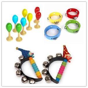 Brand-New-Baby-Musical-Toys-Mini-Tambourine-Maracas-Clown-Bells-Musical-band-set