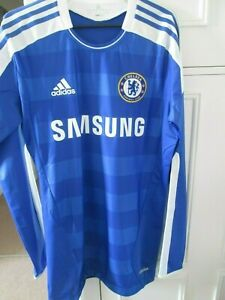 Chelsea-2011-2012-Player-Issue-BNWOT-CL-Home-Football-Shirt-size-10-44035