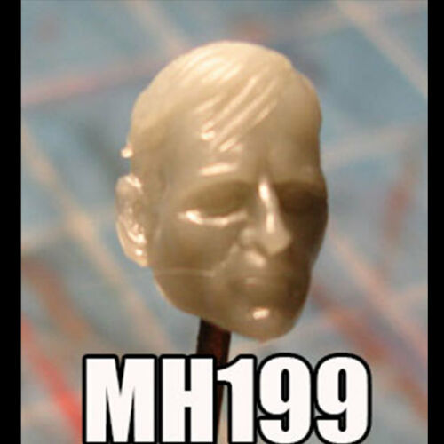 "MH199 Custom Cast Male head use w//3.75/"" Star Wars GI Joe Marvel Universe figure"