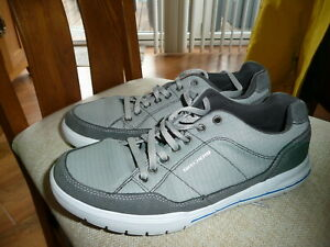 MENS GREY SKECHERS RELAXED FIT MEMORY