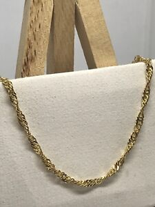 9ct-375-Yellow-Gold-Hallmarked-3mm-SINGAPORE-ROPE-LINK-CHAIN-BRAND-NEW