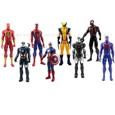"12""The AVENGERS Marvel Titan Hero Series Iron man X-Men Spider man Action Figure"