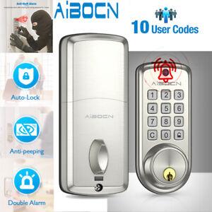 Smart Door Lock Keypad Deadbolt Lock with Auto-Lock Double Alarm Anti-peeping