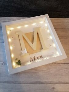 Details About Personalised Light Up Family Mum Box Frame Christmas Gift Birthday