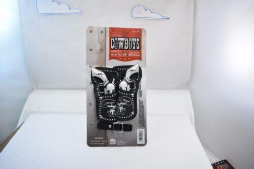 LI/'L RANGER DOUBLE HOLSTER AND BELT DIE CAST TOY GUN SET # 9941C CARDED