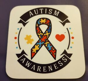 Site Officiel Autism Awareness Coaster-afficher Le Titre D'origine Pourtant Pas Vulgaire