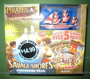 NEW-Wizkids-Pirates-CSG-Savage-Shores-Scavenger-Pack-Booster-Box-w-Libellule