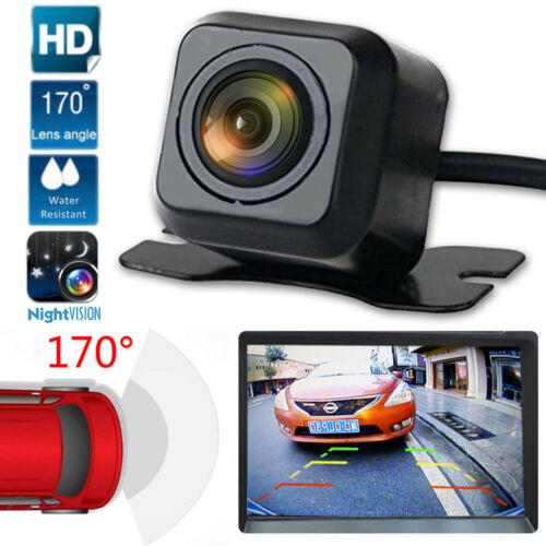 CMOS Waterproof Night Vision Car Rear View Reverse Backup Parking Camera Black