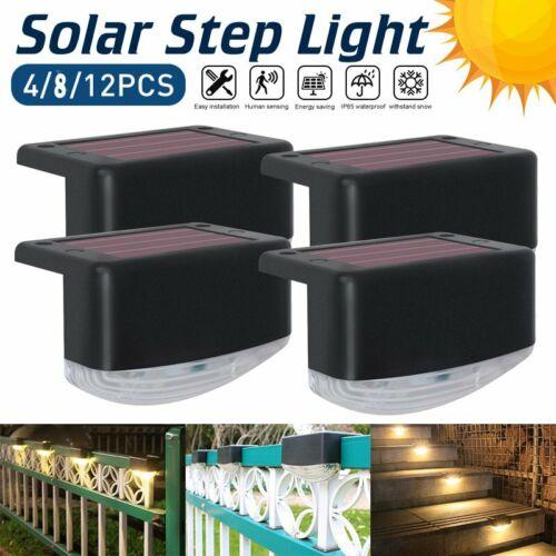 Details about  /4X Solar LED Bright Deck Lights Outdoor Garden Patio Railing Decks Path Lighting