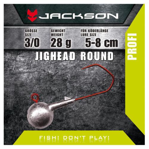 Jackson VMC Jighead Jigkopf 5 Stück Round 3//0 für Köderlänge 5–8 cm 7g
