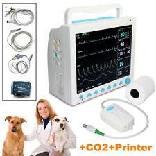 Usa Veterinary Capnograph Patient Monitor Vital Signs Cms8000 Vetetco2printer