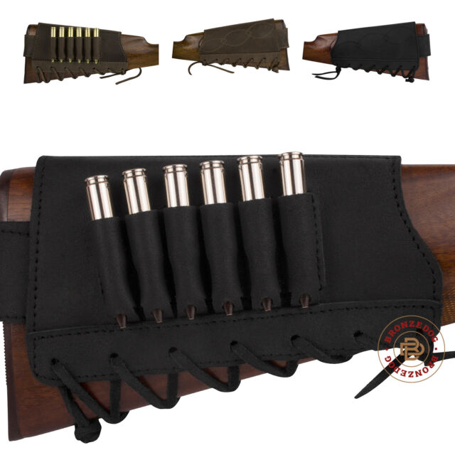 2x Hunting Shotgun Rifle Buttstock 7 Round 12//20GA Shotgun Shell Carrier Holder