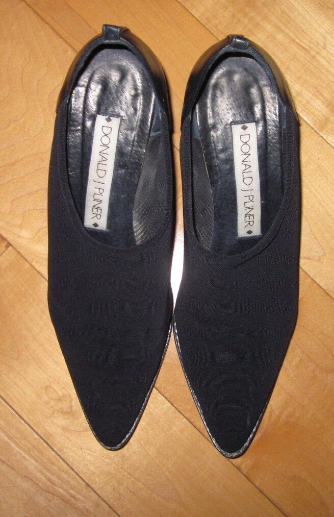 Donald J Pliner Womens Womens Womens Black Western Style Stretch Heels 7 M Made In Spain 5b0ff6