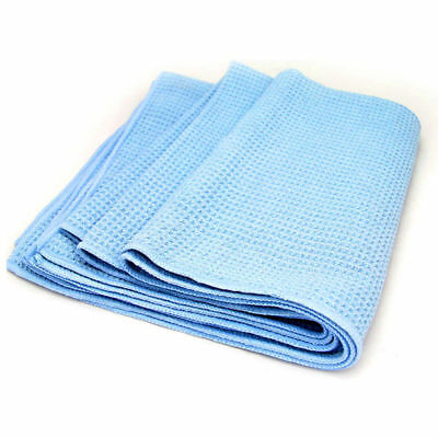 "Ebay Motors Large Blue 25""x36"" Waffle Weave Thirsty Microfiber Deluxe Drying Towel Auto Home 50% OFF"