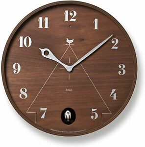 Lemnos Wall Clock Lemnos PACE  LC11-09 BW  Brown Japan