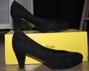 Escarpins Chaussures Femme Eram Noires Daim Taille 38