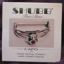 Shubb Capo F3 Finetune Fine Tune for wide necked steel string guitars new in box