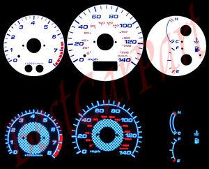 Blu-97-03-Mazda-323-Protege-Protege5-Quadrante-Bianco-Reversibile-Indiglo-Glow