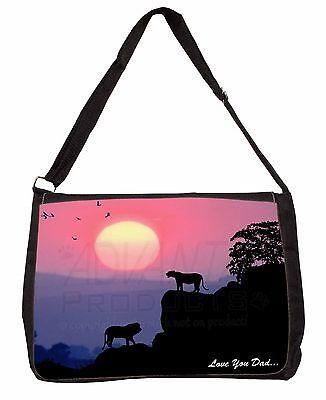Delizioso Lions Sunset 'love You Dad' Large Black Laptop Shoulder Bag School/co, Dad-148sb Fissare I Prezzi In Base Alla Qualità Dei Prodotti