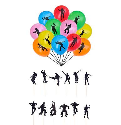 "24 pcs Video Game Dancing Balloons,12/"" Large Latex BalloonsGaming Birthday Party"
