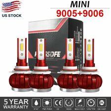 4pcs 9005 9006 Combo Cree Led Headlight Kit Bulbs 6000k White Hilo Beam Lamp