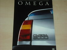 64574) Opel Omega A 3000 Prospekt 12/1986