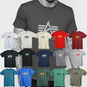 ALPHA-INDUSTRIES-t-shirt-pour-hommes-Basic-Shirt-MA1-S-M-L-XL-XXL-3XL-NEUF