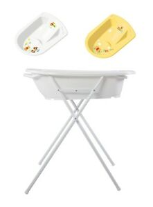 Bath Tub Stand incl. Anatomical Baby Bath Tub Winnie Pooh Bathtub + Stand