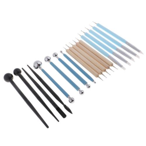 18x Ton Sculpting Werkzeuge Kugelschreiber Punktierwerkzeuge Tongefäße