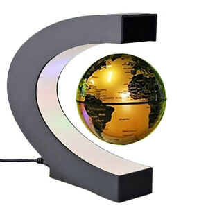 Gold led light c shape magnetic levitation floating globe world map la foto se est cargando gold led light c shape magnetic levitation floating gumiabroncs Choice Image