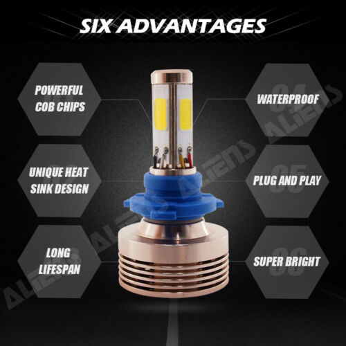 9006//HB4  LED Conversion Kit 6000k 6k Xenon HID 4 Sided 240W 24000LM 9005//HB3