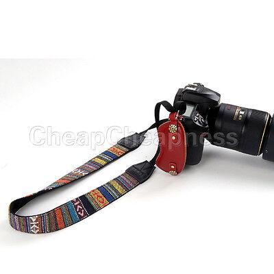 Retro Trendy Camera Shoulder Neck Strap Belt For SLR DSLR Nikon Canon Sony BBUS