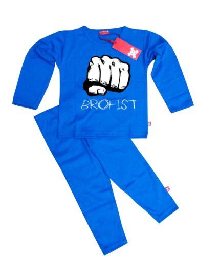 Blue Ethical Kids Childrens Boys Girls Pewdiepie Brofist Pyjamas Pajamas