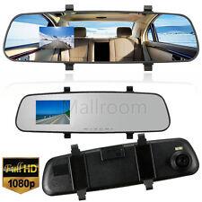 "2.4"" 1080P Auto DVR Dash Cam Video Recorder DVR Aushilfs Spiegel Dual-Kamera Kit"