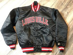 Rare-1980-s-Louisville-Cardinals-NCAA-Starter-Satin-Jacket-Men-s-Large-Minty
