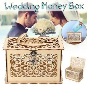 Wood-Gift-Card-Case-Money-Box-DIY-Wedding-Birthday-Party-Cards-Holder-Container