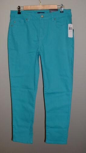 Nwt 12p Jeans Skinny Aquamarine Alisha Nydj Waist Lift High Ankel Stretch Tuck r4aqrvnx