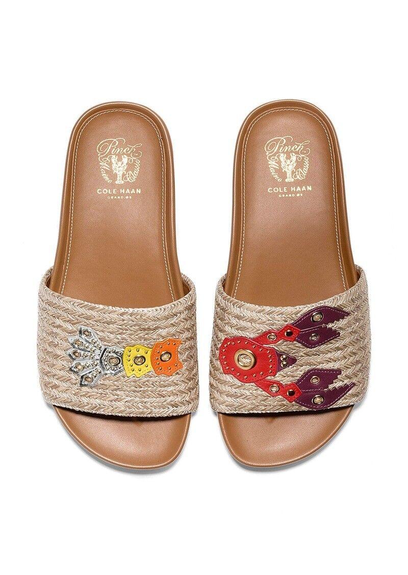Cole Haan G.OS Pinch Mntk Lobster Slide Sandal Sandal Sandal Beige Straw shoes Sz.US 8 New ae0440