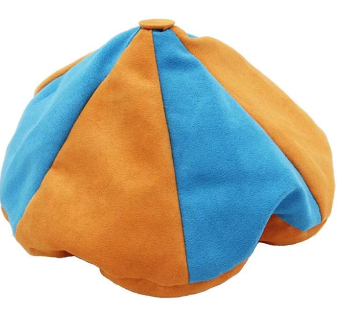 Blippi Hat Adult Candy Costume Plastic Blippi Cap Orange Glasses Cosplay Prop