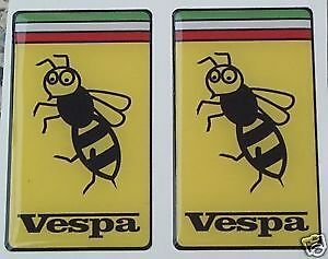 2 VESPA 3d domed stickers decals scooter px lx gts gtv